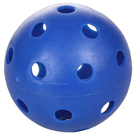 Strike florbalový míček modrá