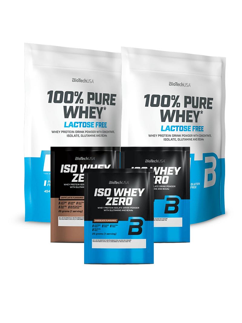 AKCE 2x BioTech 100% Pure Whey Lactose Free 454 g + 3x Iso Whey Zero 25 g
