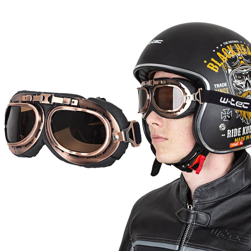 Moto brýle W-TEC Steamrust