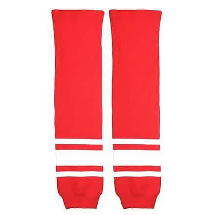 Malše hokejové štulpny žák červená-bílá Balení: 1 pár