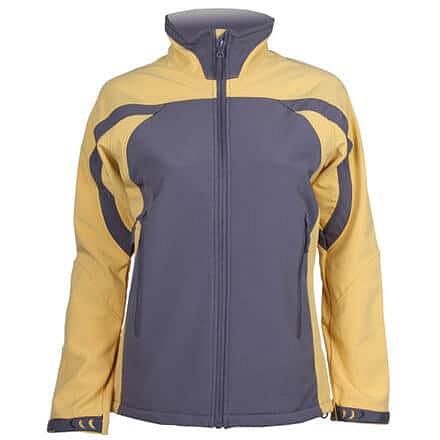 Levně SBD-3 dámská softshellová bunda šedá-žlutá Velikost oblečení: S