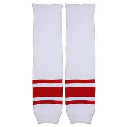 Motor hokejové štulpny senior bílá-červená Balení: 1 pár