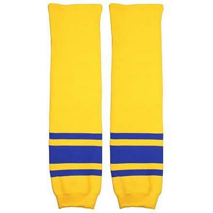 Motor hokejové štulpny senior žlutá-modrá Balení: 1 pár