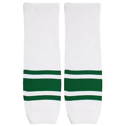 Motor hokejové štulpny senior bílá-zelená Balení: 1 pár