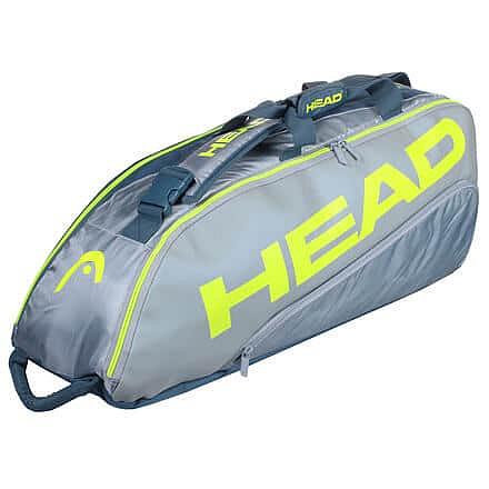 Tour Team Extreme 6R Combi 2021 taška na rakety šedá-žlutá