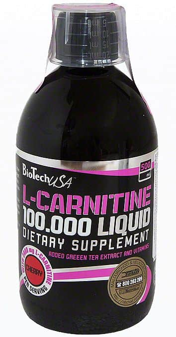 BioTech L-Carnitine liquid 100 000 500ml 500 ml višeň