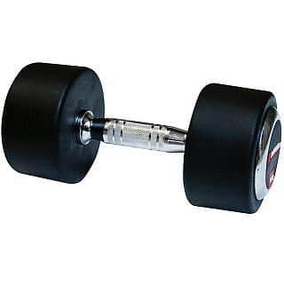 Profi pogumovaná jednoruční činka SPARTAN 5 kg