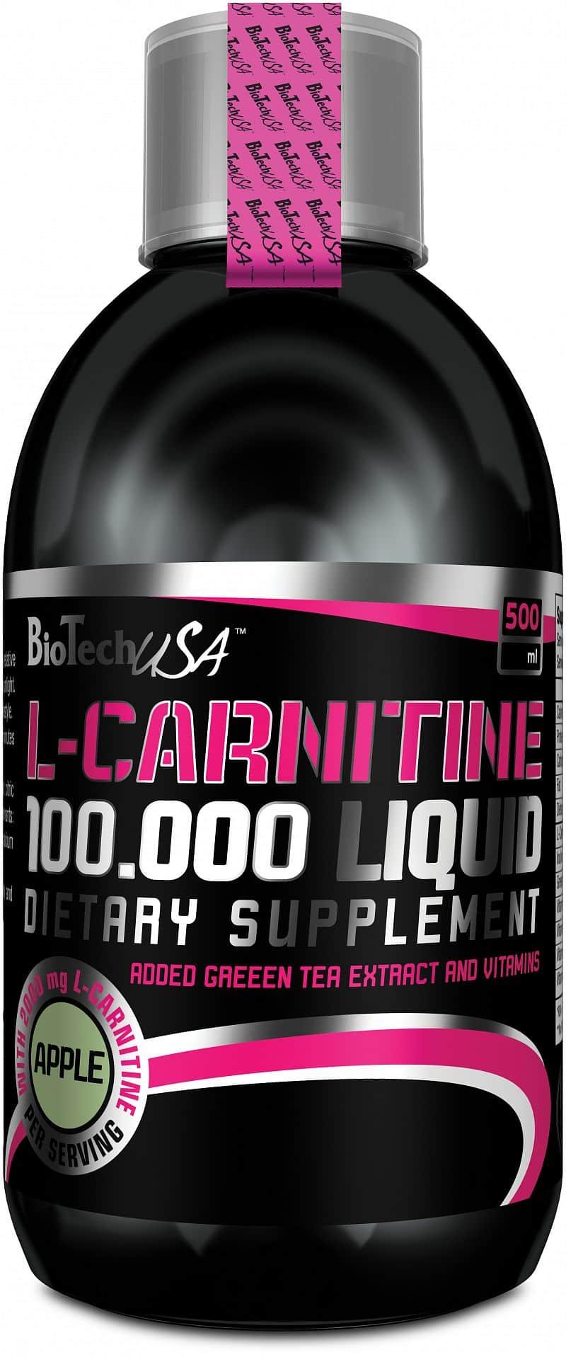 BioTech L-Carnitine 100000 500 ml 500ml, višeň