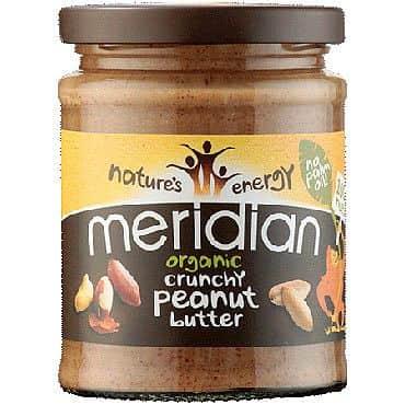 Meridian Foods Limited Bio arašídové máslo křupavé 280 g 280g