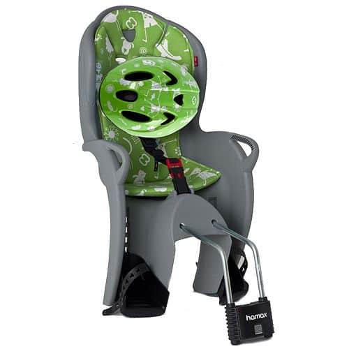 Sedačka Hamax Kiss zadní stříbrná + přilba zelená