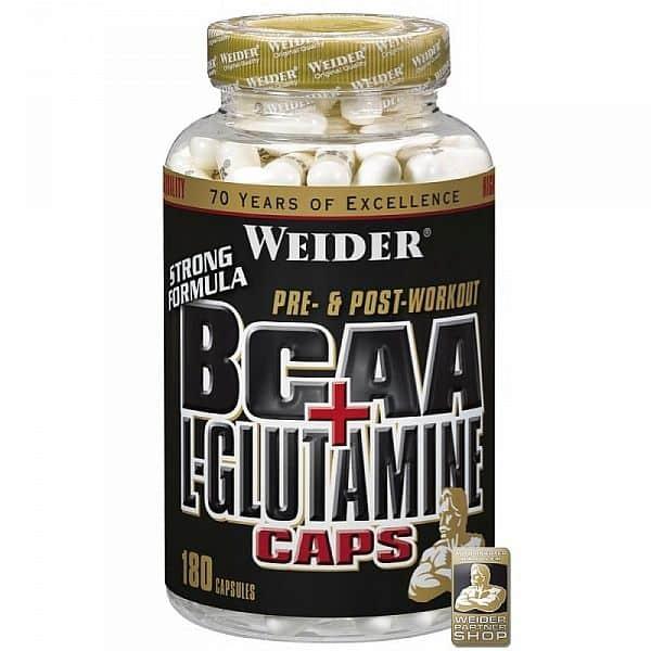 BCAA + L-Glutamine 180 kapslí - Weider