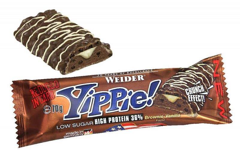 36% Yippie! Protein bar 70g - Weider