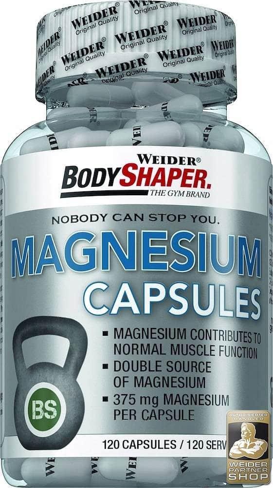 Magnesium Caps 120kapslí - Weider Body Shaper