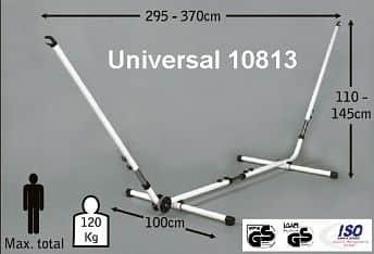 Jobek Kovový stojan na houpací síť UNIVERSAL - nastavitelná délka a výška Bílý