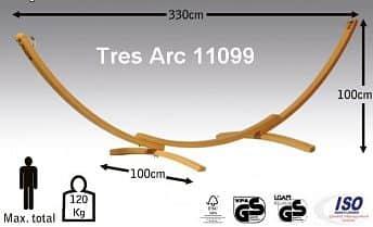 Jobek Dřevěný stojan na houpací sítě TRES ARC - smrk