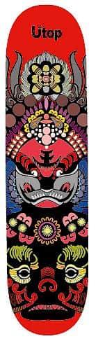 Skateboard SPARTAN Utop Board Mask Red