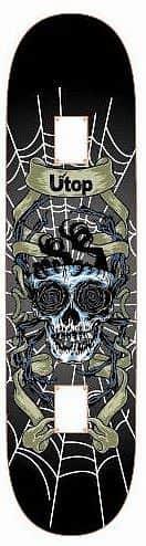 Skateboard SPARTAN Utop Board Skull Net