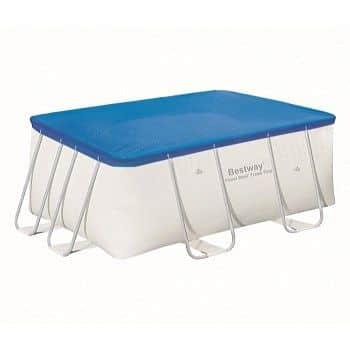 Krycí plachta Bestway na bazén s konstrukcí - obdélník pro bazén Splash 239 x 150 cm