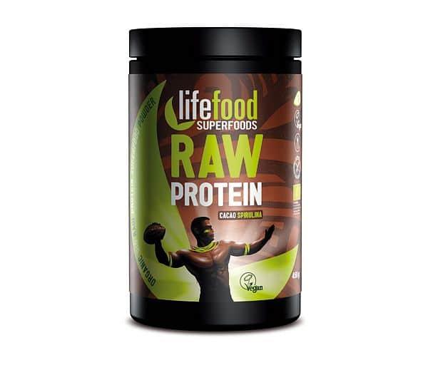 Raw kakaový protein se spirulinou BIO 450 g