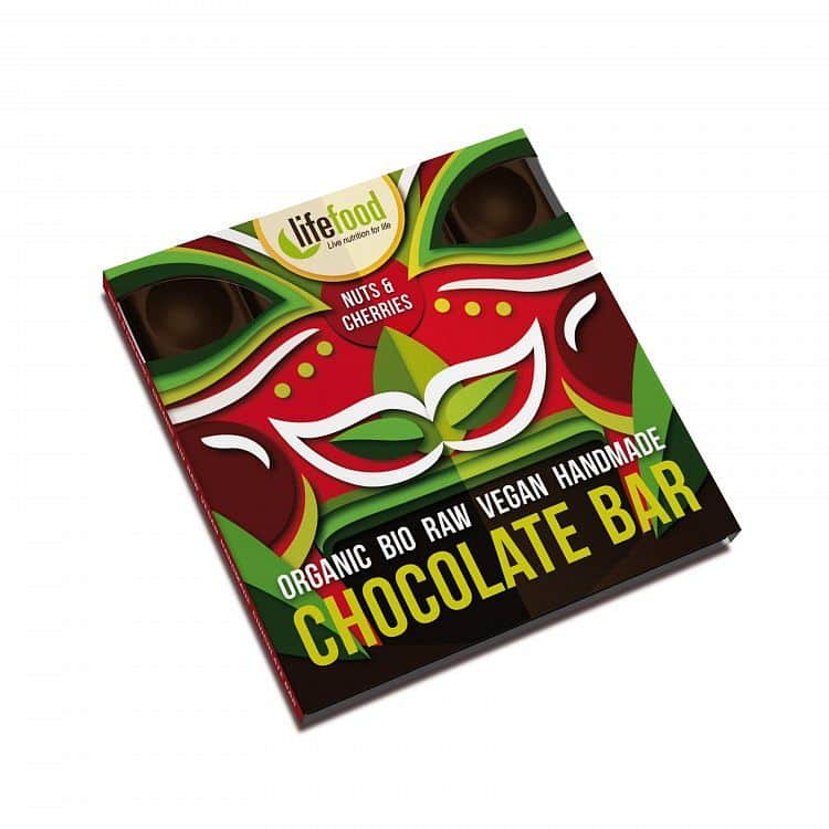 Raw čokoláda s ořechy a třešněmi BIO 35 g