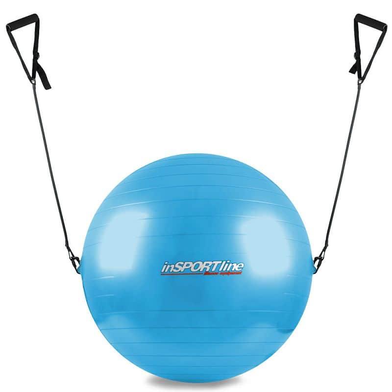 Gymnastický míč s úchyty inSPORTline 75 cm Barva modrá
