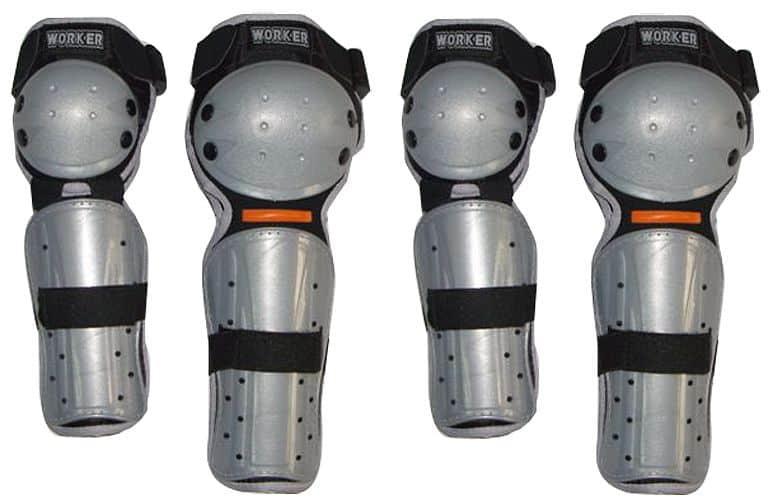 Motocyklové chrániče kolen a loktů WORKER VP782-junior