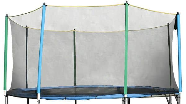 Ochranná sieť bez tyčí k trampolínam 430 cm 4 nohy