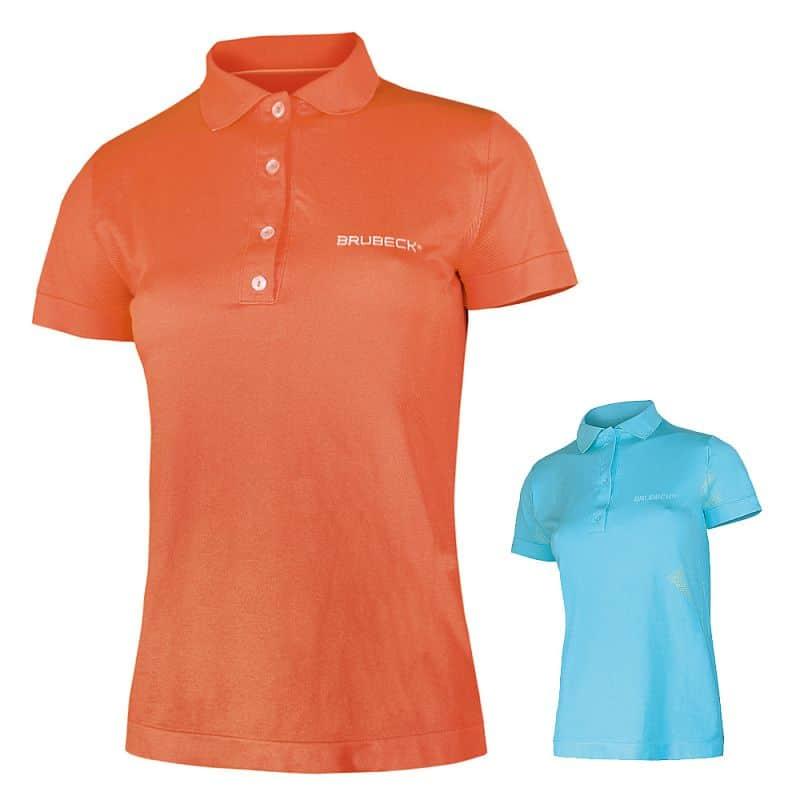 Dámské thermo tričko Brubeck PRESTIGE s límečkem Barva modrá, Velikost S