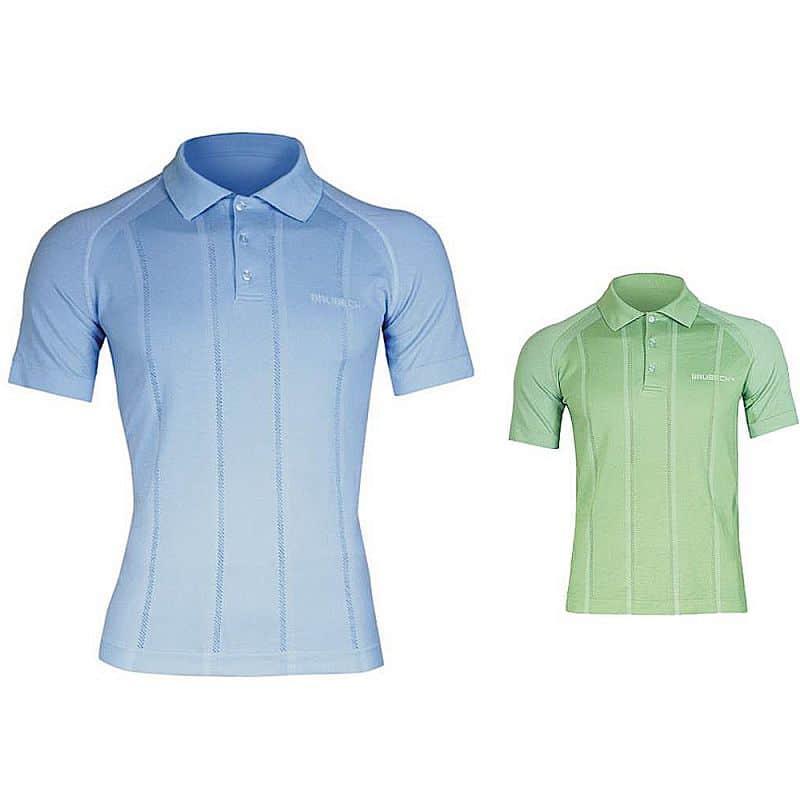 Pánské thermo tričko Brubeck PRESTIGE s límečkem Barva zelená, Velikost M