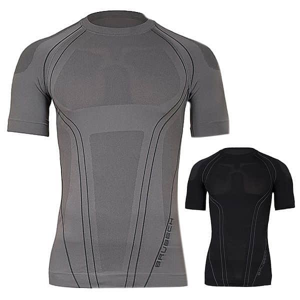 Pánské termo tričko Brubeck FIT s krátkým rukávem