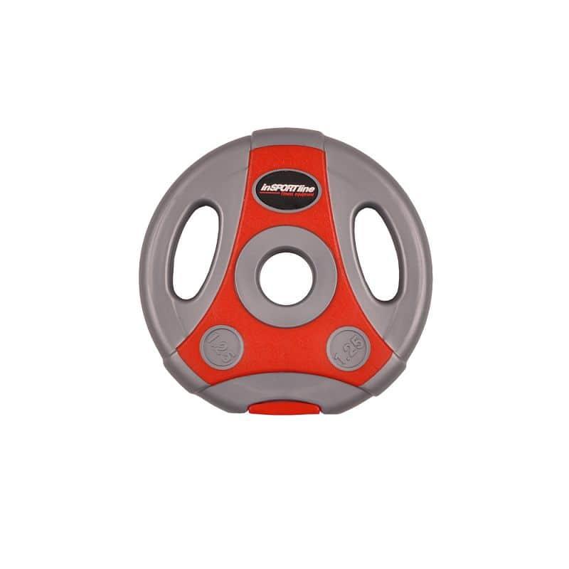 Cementový kotúč inSPORTline Ergo 1,25 kg šedo-červený