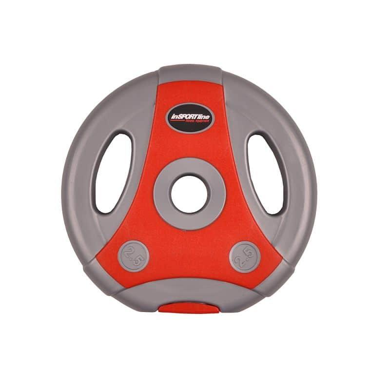Cementový kotouč inSPORTline Ergo 2,5 kg šedo-červený