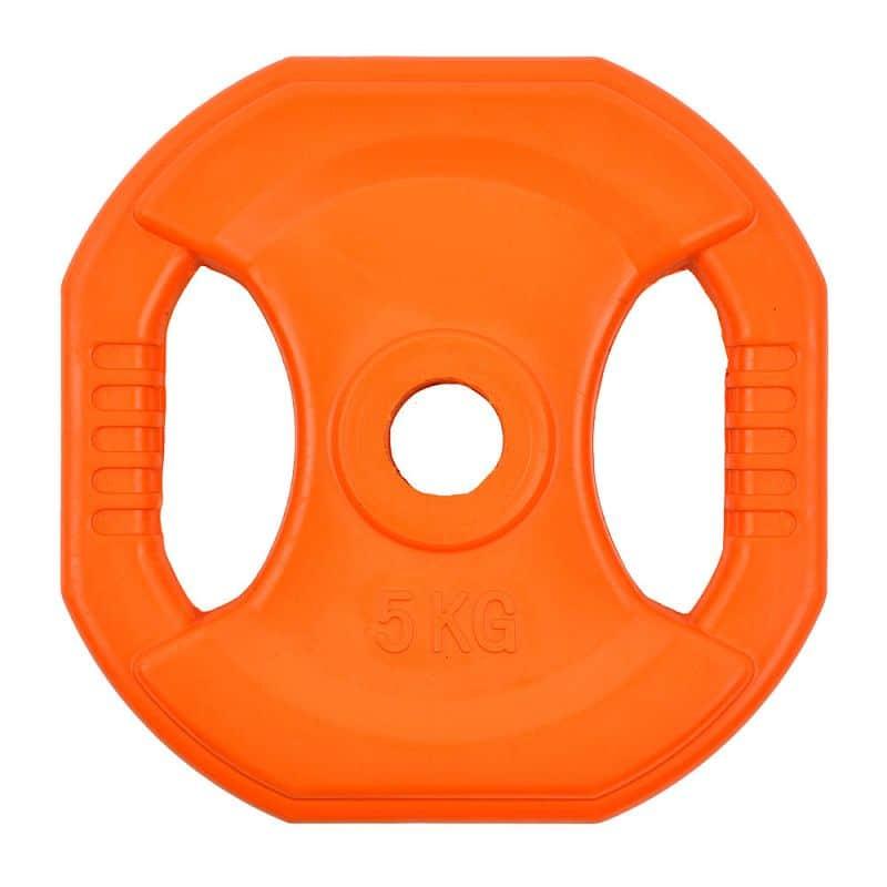 Hranatý pogumovaný kotúč inSPORTline Pump 5 kg