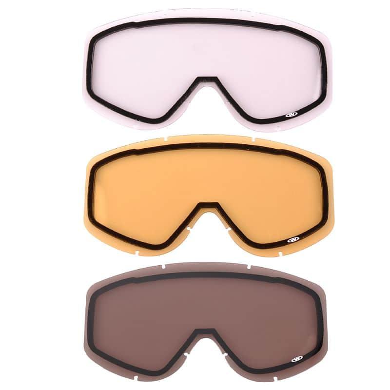 Náhradní sklo k brýlím WORKER Simon Barva čiré