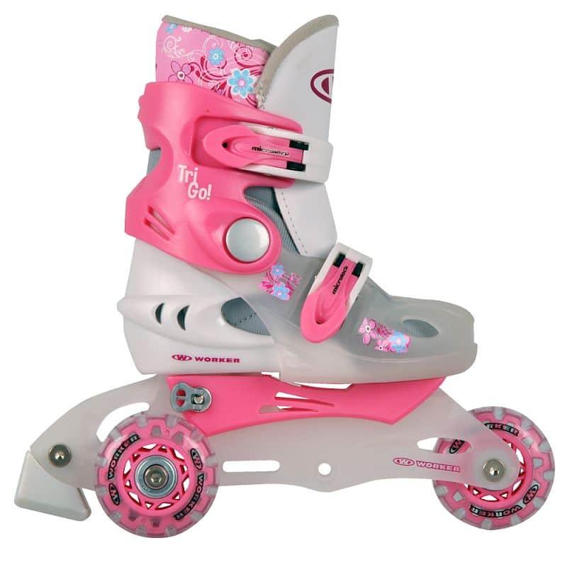 Detské kolieskové korčule WORKER TriGo Skate