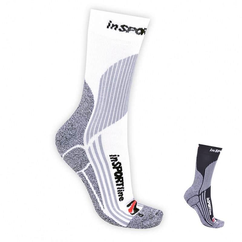 Multifunkční ponožky inSPORTline - COOLMAX & ionty stříbra Barva bílá, Velikost S (30-33)