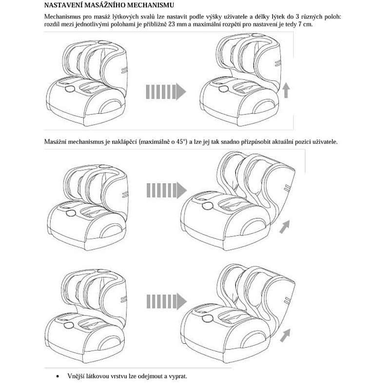 Masážní přístroj na nohy inSPORTline C22