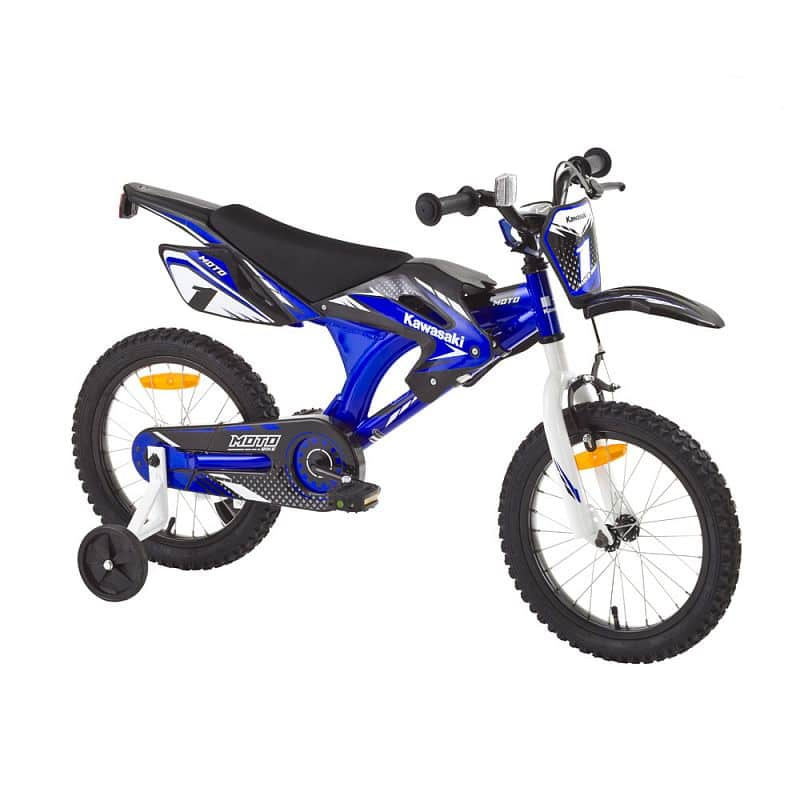 "Dětské kolo KAWASAKI Moto 16"" - model 2014 Barva modrá"