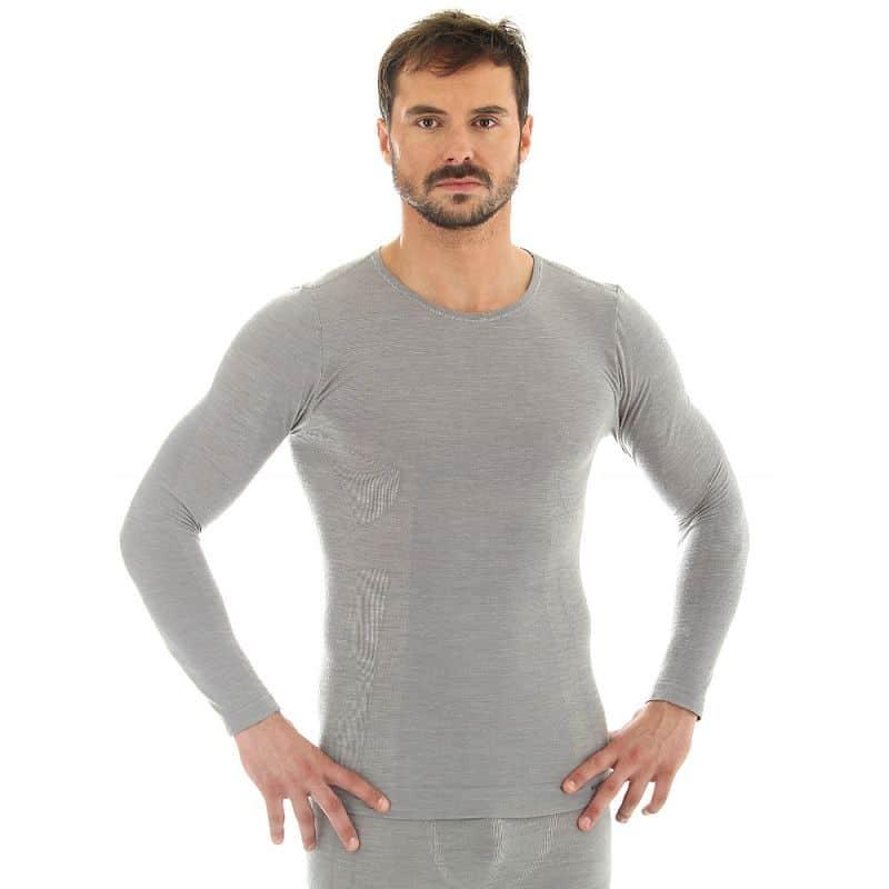 Pánské tričko Brubeck -  vlna dlouhý rukáv