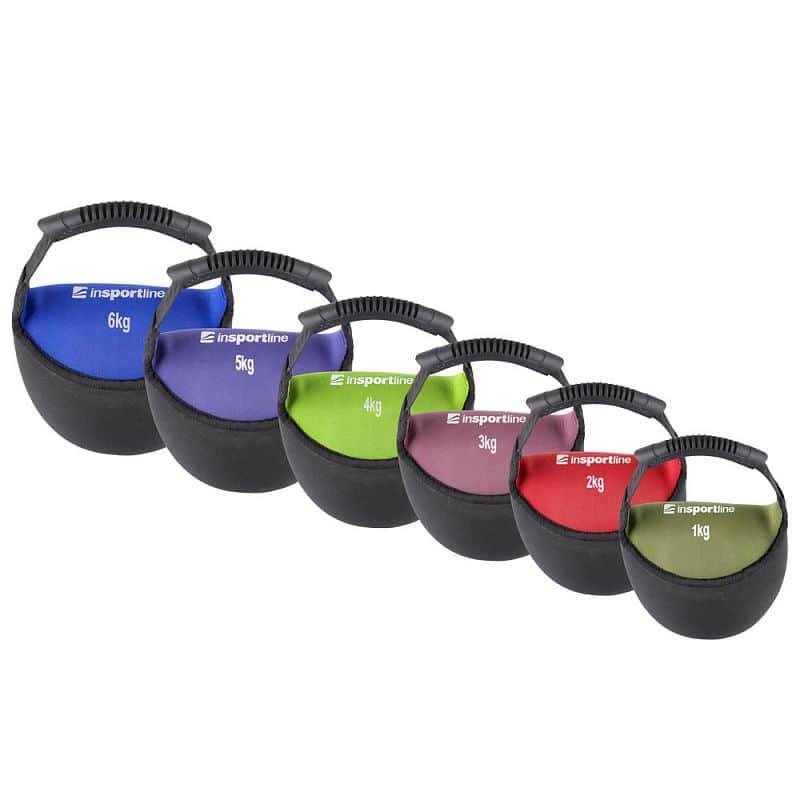 Neoprenová činka inSPORTline Bell-bag 4 kg