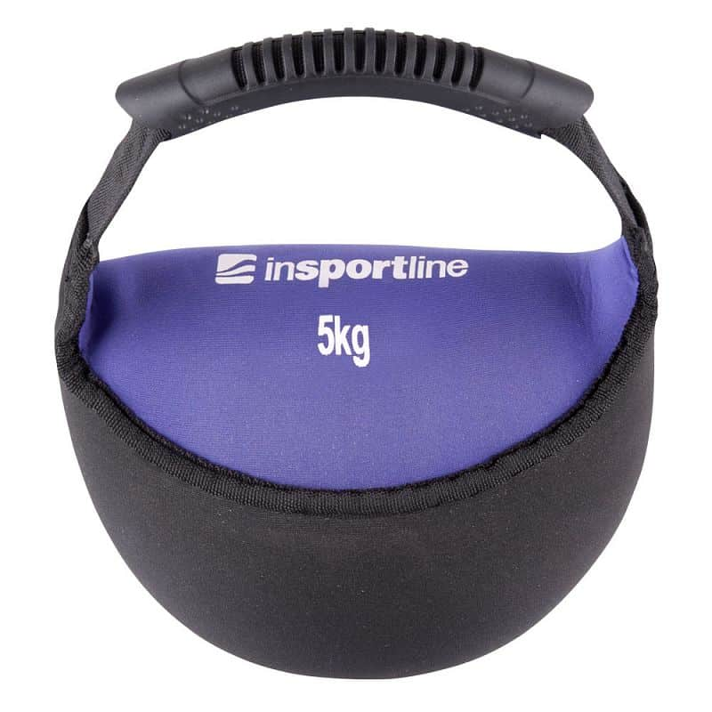 Neoprénová činka inSPORTline Bell-bag 5 kg