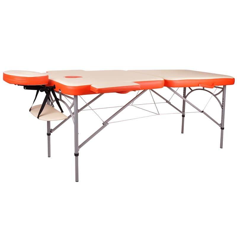 Masážní stůl inSPORTline Tamati 2-dílný hliníkový Barva oranžová