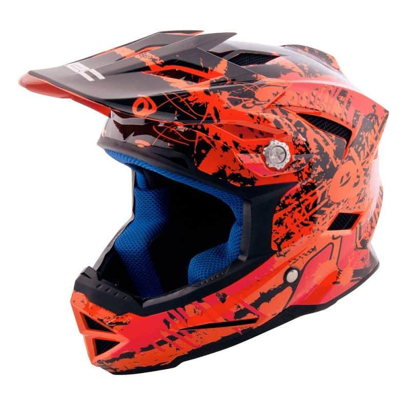 Dětská downhill přilba W-TEC AP-42 Barva oranžovo-červená, Velikost S (47-48)
