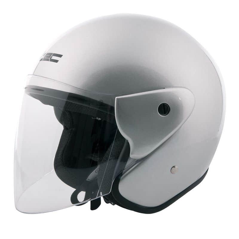 Moto přilba W-TEC AP-74 Barva stříbrná, Velikost XXL (63-64)