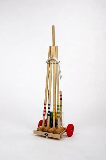 Kroket Lucio Londero - pro 4 hráče - dřevěný vozík