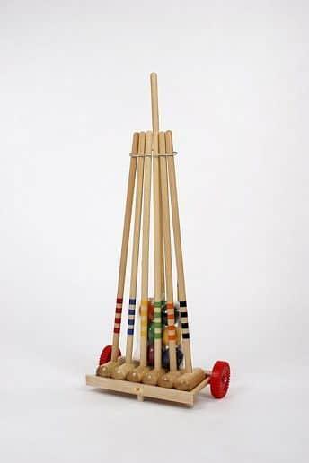 Kroket Lucio Londero - pro 6 hráčů - dřevěný vozík