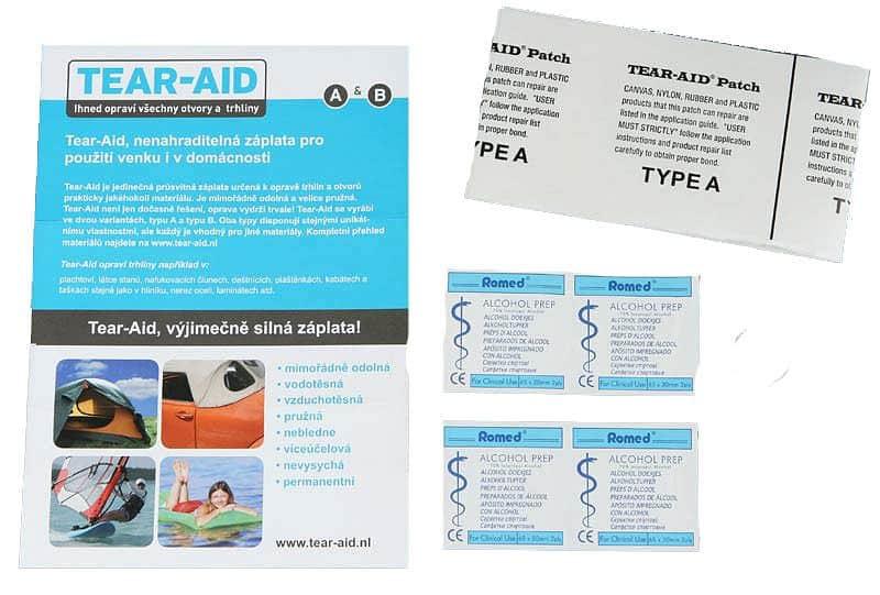 Samolepicí záplata TEAR-AID typ A