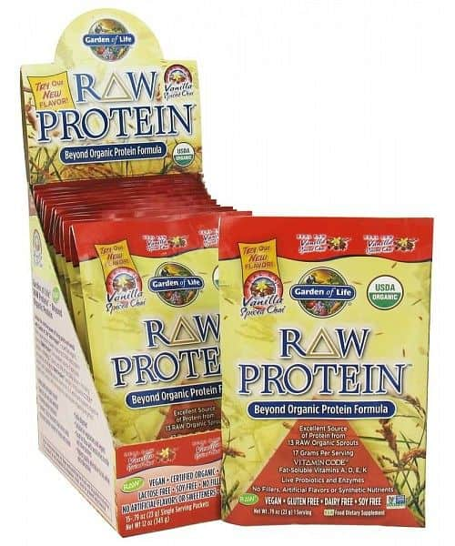 RAW Organic Protein Vanilla Chai Tray (1 dávka)