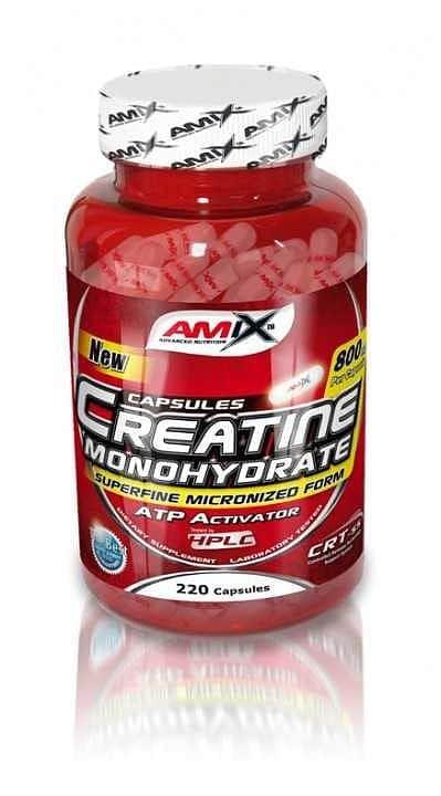 Creatine monohydrate 800mg Amix 220cps