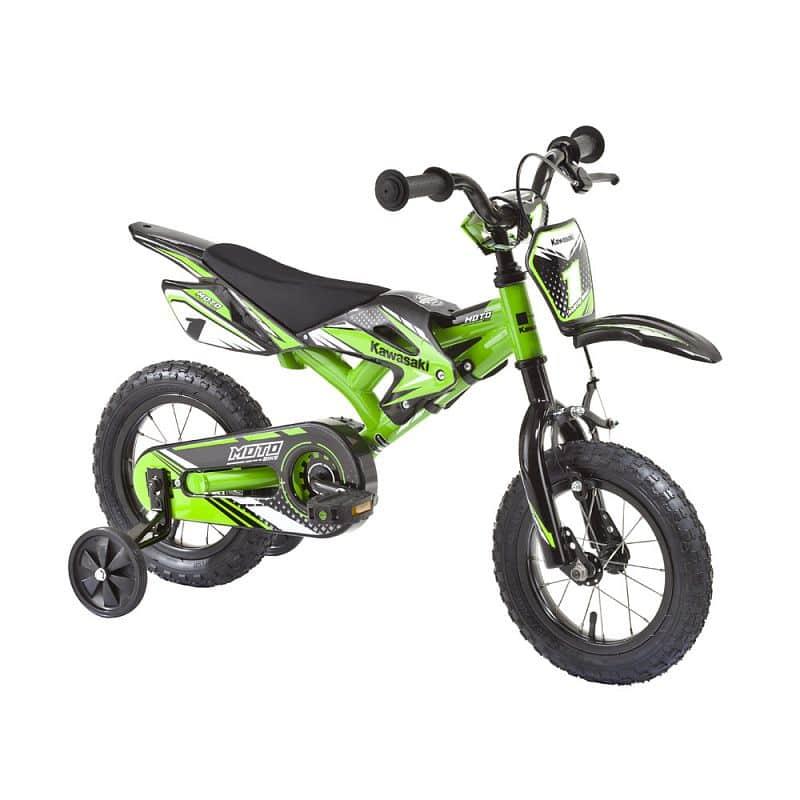 """Dětské kolo KAWASAKI Moto 12"""" - model 2014 Barva zelená"""